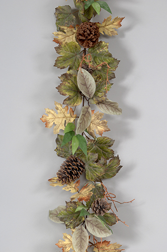 Leaves/Pinecone/Twig Garland 35-0S33002