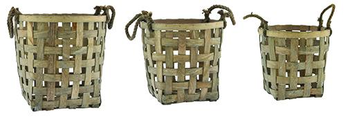 grey wash round baskets